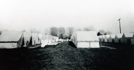 The York Fairground was equipped as a makeshift hospital to care for Spanish flu victims.