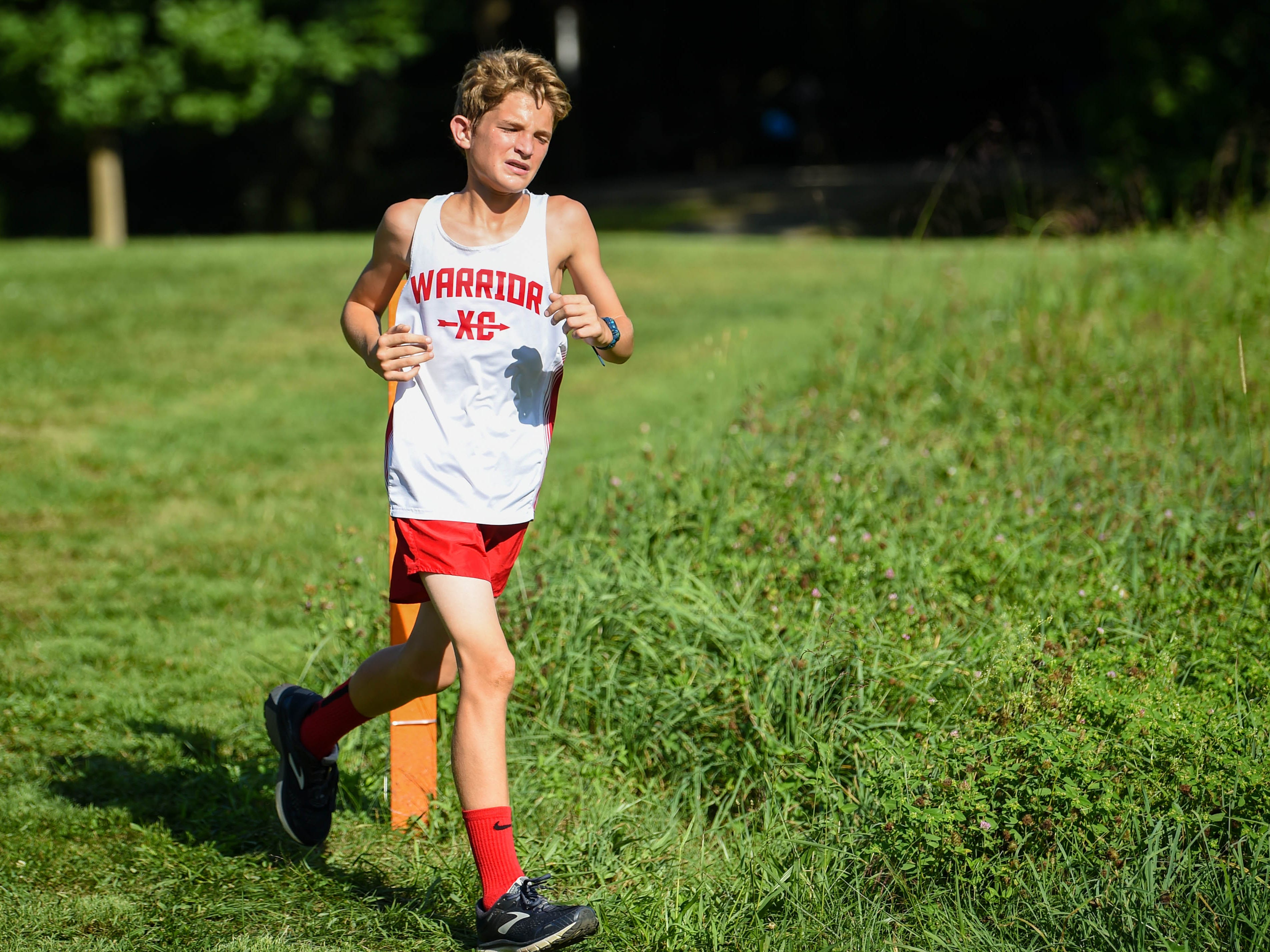 Susquehannock stays strong as he passes the marker at John Rudy County Park on August 30, 2018.