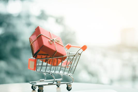 Gift Box In Small Cart