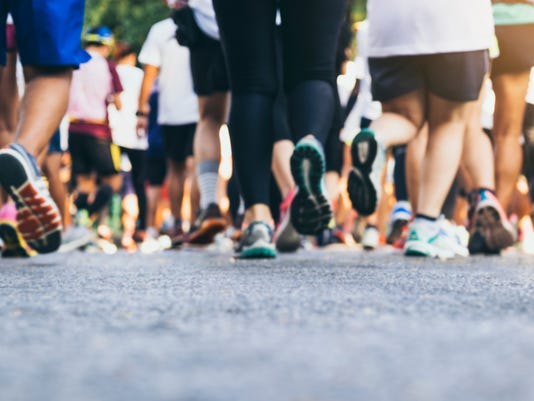 Marathon Runners Crowd People Outdoor Sport Event
