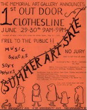 The first Clothesline Festival was held in 1957. Here's the announcement.
