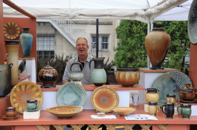 Potter Richard Aerni is one of the artists at Clothesline.