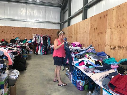 Melissa Elliott at warehouse