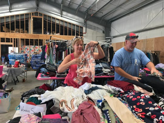 More than 100 families have so far been helped by the grassroots charity effort organized on Facebook in July by Melissa and Jim Elliott. Clothing is organized by gender, age and size to make it easy for Carr Fire victims to find what they need.