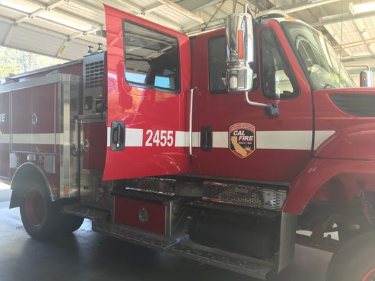 A firetruck at Cal Fire's Station 58.