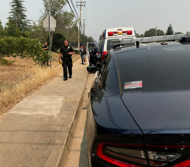 Police were called Friday to a Redding senior home on Lake Boulevard Friday after a 91-year-old resident was found dead outside.