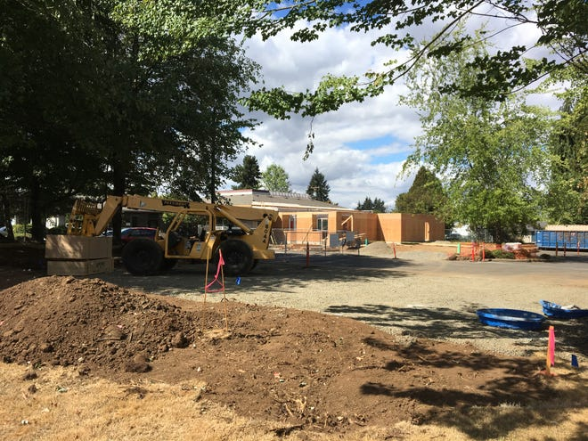 Construction work at 2450 12th St. SE in Salem, Oregon, on Aug. 31, 2018.