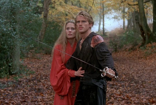"Robin Wright and Cary Elwes star in ""The Princess Bride."""