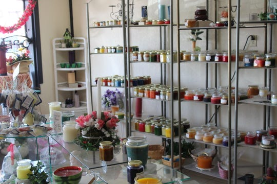 The interior of Candles Handmade by JF, 2716 Sherwood Way.