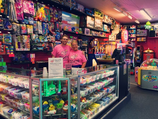 General Manager Matt Weiner, and longtime employee Dale Cirillo pose for a photo at Zelky's Beach Arcade in Rehoboth Beach.