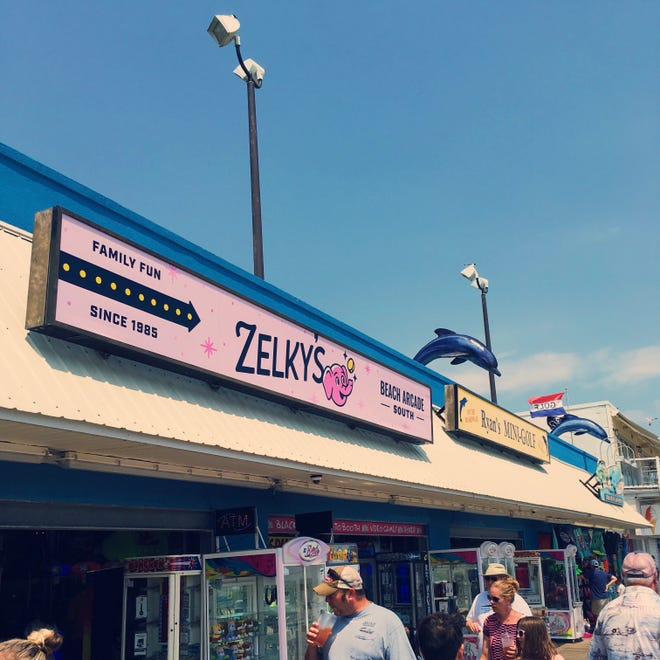 A longtime arcade rebranded on the Rehoboth Beach boardwalk and now goes by Zelky's. It has three locations.