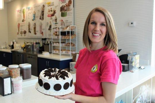 Kristen Simmons, co-owner of Marble Slab Creamery in Shreveport.