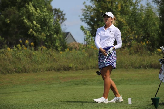 Linnea Strom competes in the GreatLife Challenge on Thursday at Willow Run Golf Course.