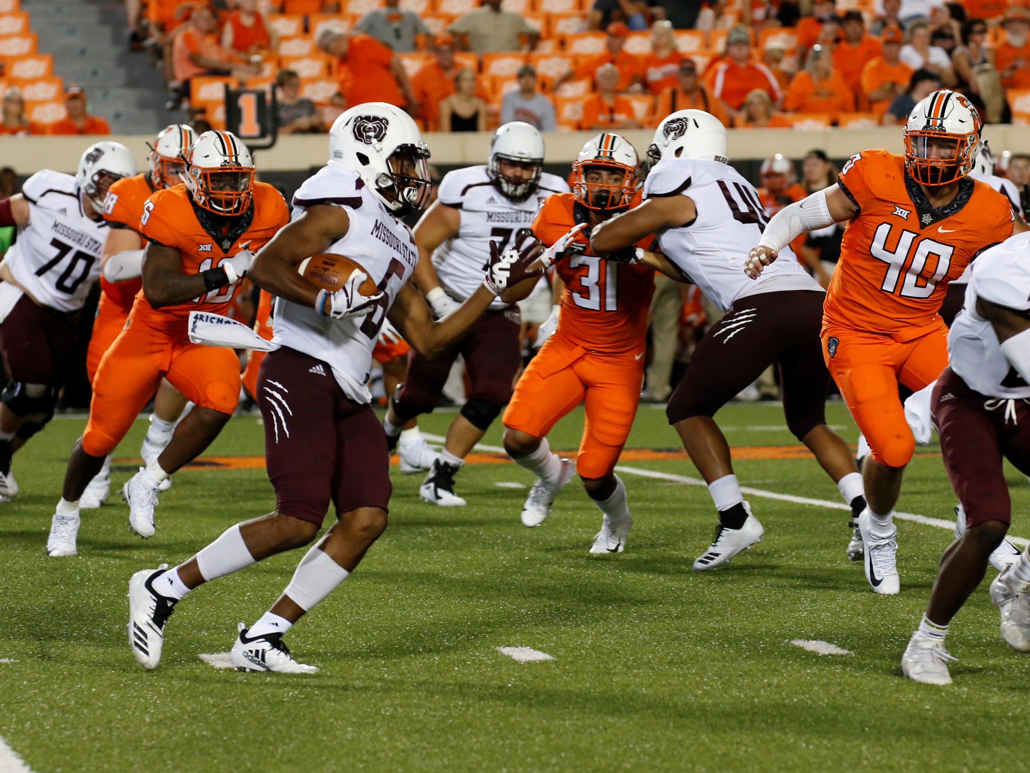 Missouri State against Oklahoma State in Stillwater, OK on August 30, 2018.