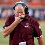 Coach Dave Steckel at Missouri State against Oklahoma State in Stillwater, OK on August 30, 2018.