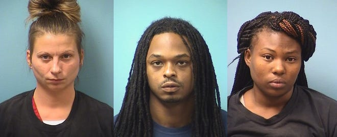 Lacy Aronson, Jevonte Burson and Lakeya Johnson were all arrested Wednesday, Aug. 29 on suspicion of crimes related to drug distribution.