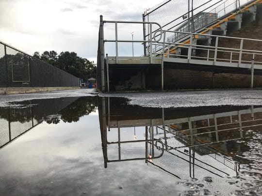 Tallahassee experienced above normal rainfall in 2018, the ninth wettest year on record. All the rain left standing water in usual places such as at Gene Cox Stadium.