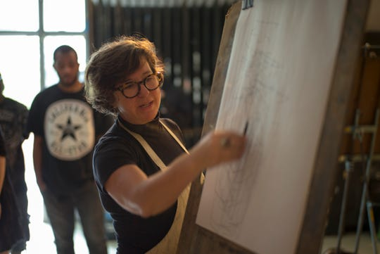 Julie Baroody's art will be on display at TCC's annual Art Instructors' Exhibit  through September 27.