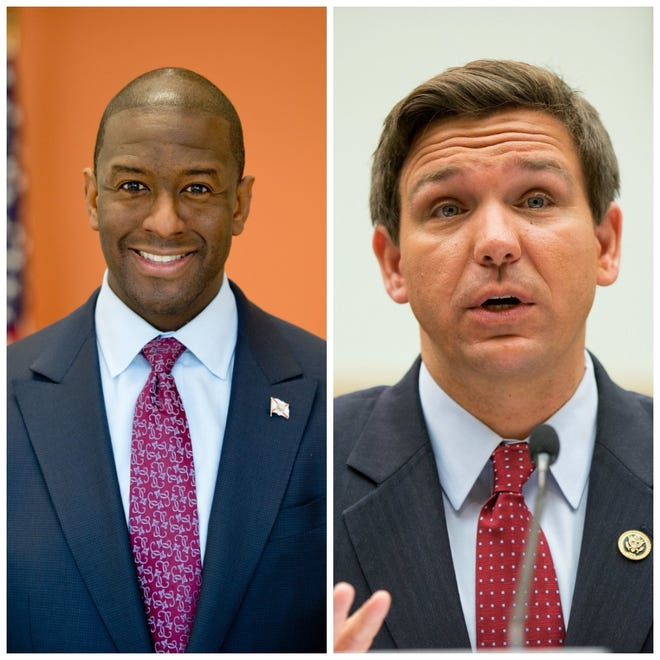 Andrew Gillum and Ron DeSantis are competing to see who will become Florida's next governor.