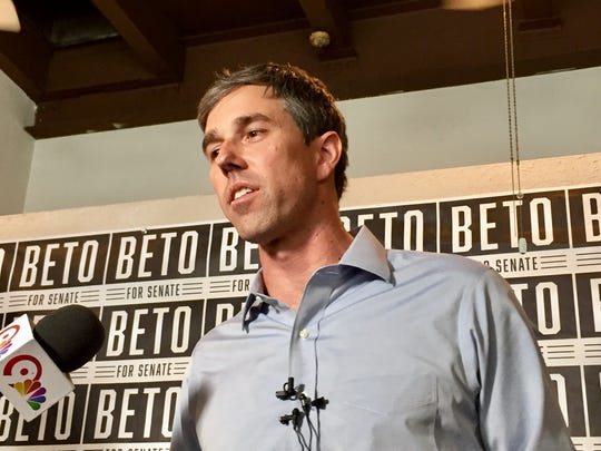 U.S. Rep. Beto O'Rourke, who is running for the Senate, spoke at a press conference on Friday.