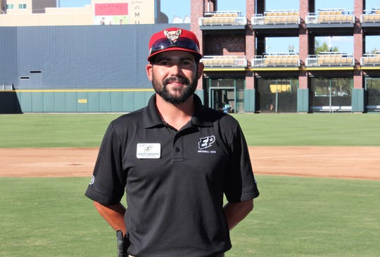Travis Howard, El Paso Chihuahuas groundskeeper.