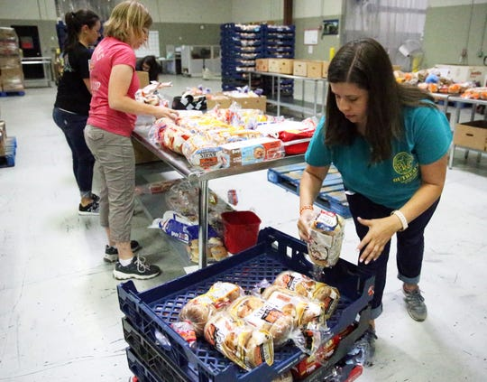 Food is processed and packaged for delivery Friday.