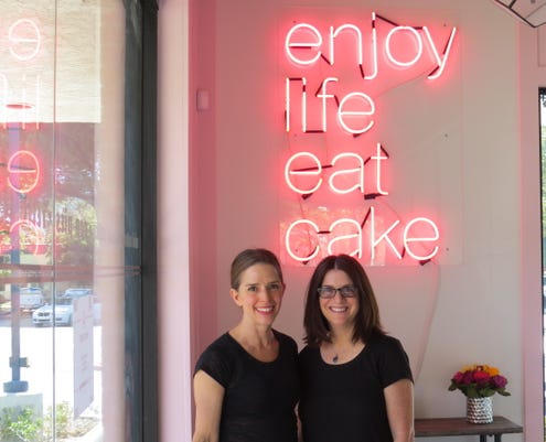 Elizabeth And Lisa With Neon