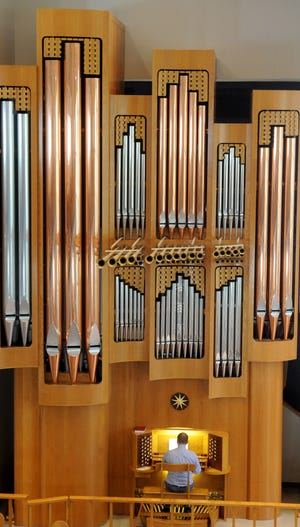 This is the 2,109-pipe organ inside California Lutheran University's Samuelson Chapel. Joseph Peeples offers free performances the last Friday of every month from 12:30 to 1 p.m.
