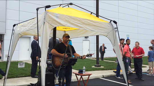 "Newfield resident T.J. Fry entertained at Friday's ""Tiligent Jamboree,"" held at the Teligent pharmaceutical factory on Lincoln Avenue in Buena Vista Township."
