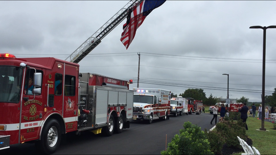 "Buena Vista Township fire companies, the Atlantic County Sheriff's Department, emergency medical technicians and New Jersey State Police took part in a parade to set off Friday's ""Jamboree"" at the pharmaceutical firm Teligent on Lincoln Avenue."