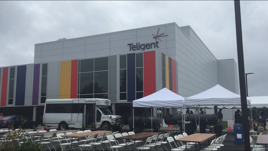"The view from Lincoln Avenue on Friday of the newly Teligent pharmaceutical factory in Buena Vista Township. The company threw a ""jamboree"" for a dedication ceremony that drew New Jersey Gov. Philip Murphy and more than 400 other guests."