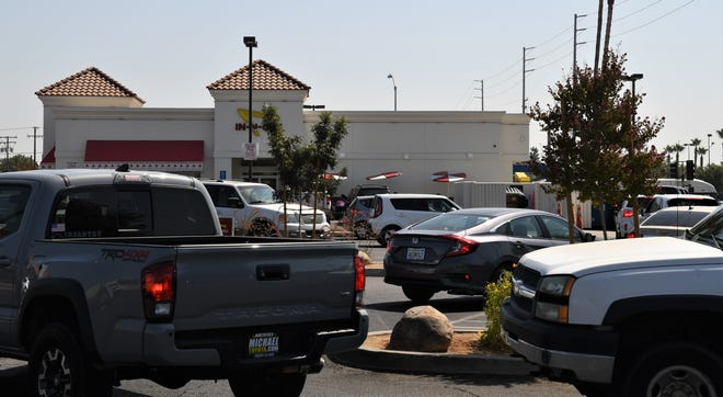 The Democratic boycott hasn't prevented Visalia customers from jamming In N Out's parking lot