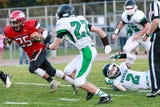 The Lumberjacks forced four turnovers to edge Rhinelander 13-12 on Thursday at Thom Field.
