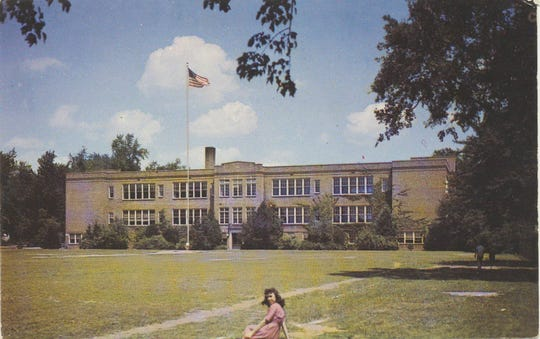 An image of the old Pearl River High School, which was built in 1922 and torn down in winter of 1983. it was used until the new high school was built in 1963.