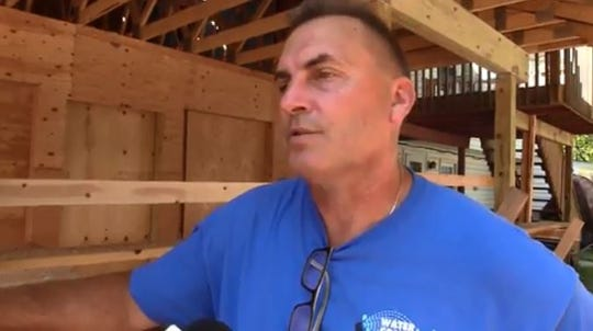 New City Assistant Fire Chief Rich Willows talks about the handicap-accessible extension firefighters and contractors are building for Willie McCue, who lost his extremities to sepsis - blood poisoning - that developed after he got the flu.