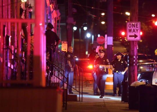 Police investigate after a person was shot in the 200 block of N. Van Buren Street in Wilmington in August.