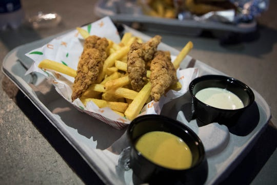 The Fuku Fingers & Fries sold at the Fuku concession stand at Lincoln Financial Field.