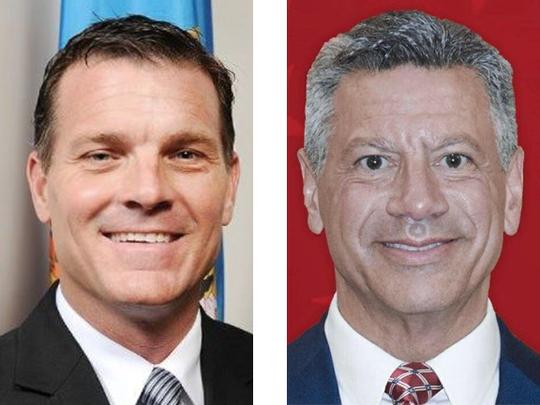 U.S. Senate candidates Robert Arlett (left) and Gene Truono