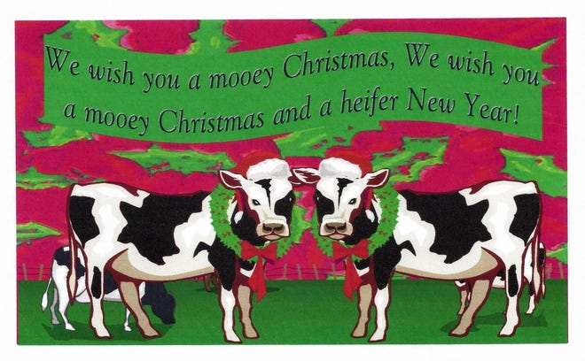 This Christmas card from a reader in Pelkie, Mich., found its way to columnist Susan Manzke's mailbox this summer.