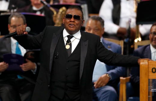 """Ron Isely, lead singer and last surviving member of the Isley Brothers (""""Shout!"""" and """"It's Your Thing""""), was a frequent guest at her concerts. He described Franklin as """"my best friend,"""" during a 2010 interview with Vibe magazine.   The soft-spoken Isley then broke in to a sweet and soulful """"His Eye is on the Sparrow."""""""