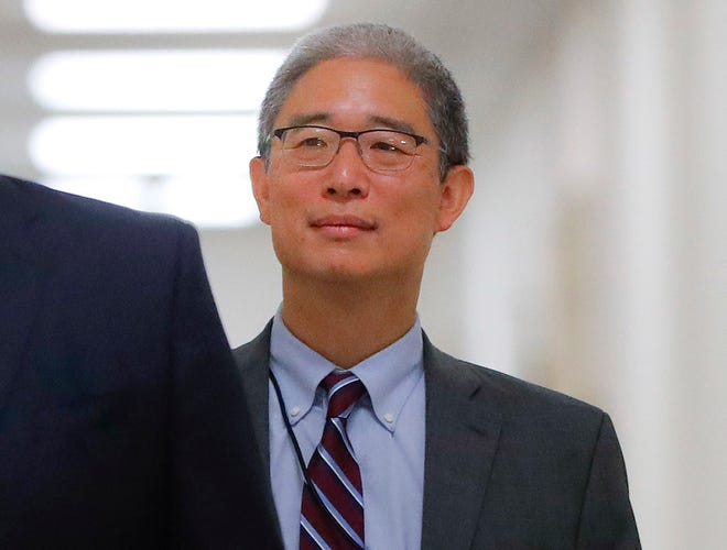 In this Aug. 28, 2018, file photo, Justice Department official Bruce Ohr arrives for a closed hearing of the House Judiciary and House Oversight committees on Capitol Hill in Washington.