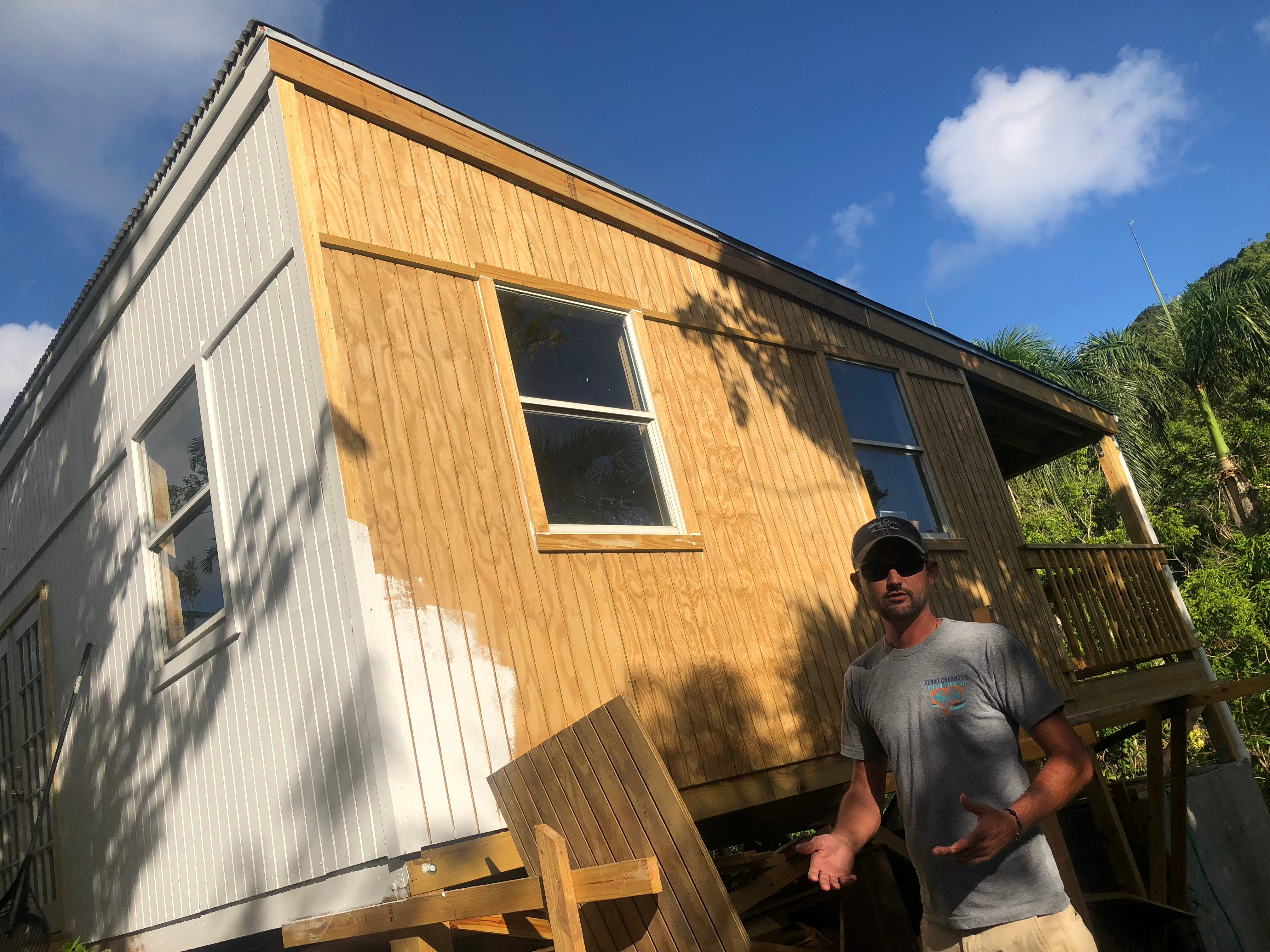 Jeff Quinlan leads the efforts of Love for Love City Foundation, started by country music star Kenny Chesney, which has repaired more than 100 roofs and built five new homes on St. John.
