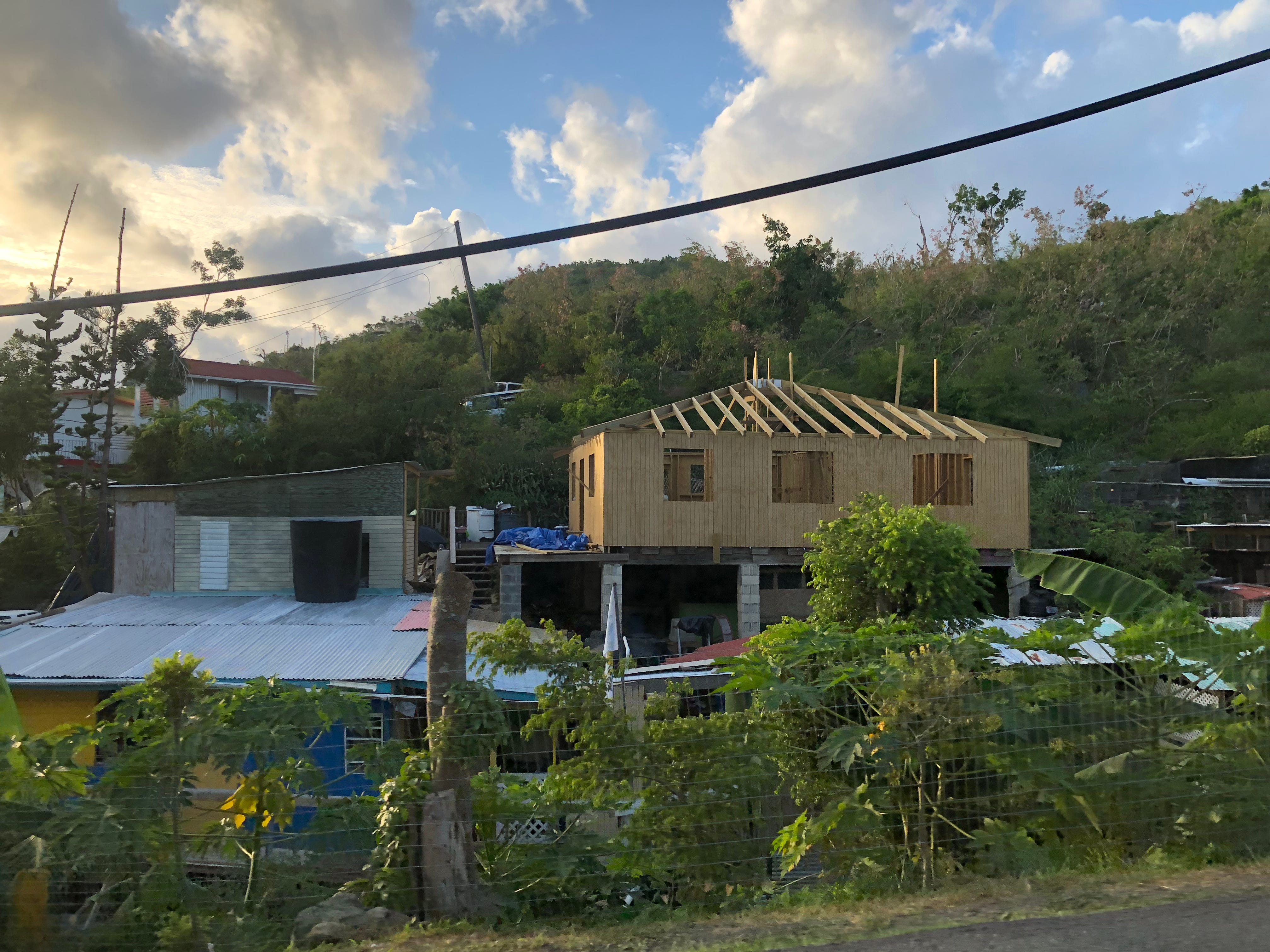 New homes are going up across St. John, thanks to a combination of FEMA money, Virgin Island officials and private groups such as Love for Love City and Love City Strong.