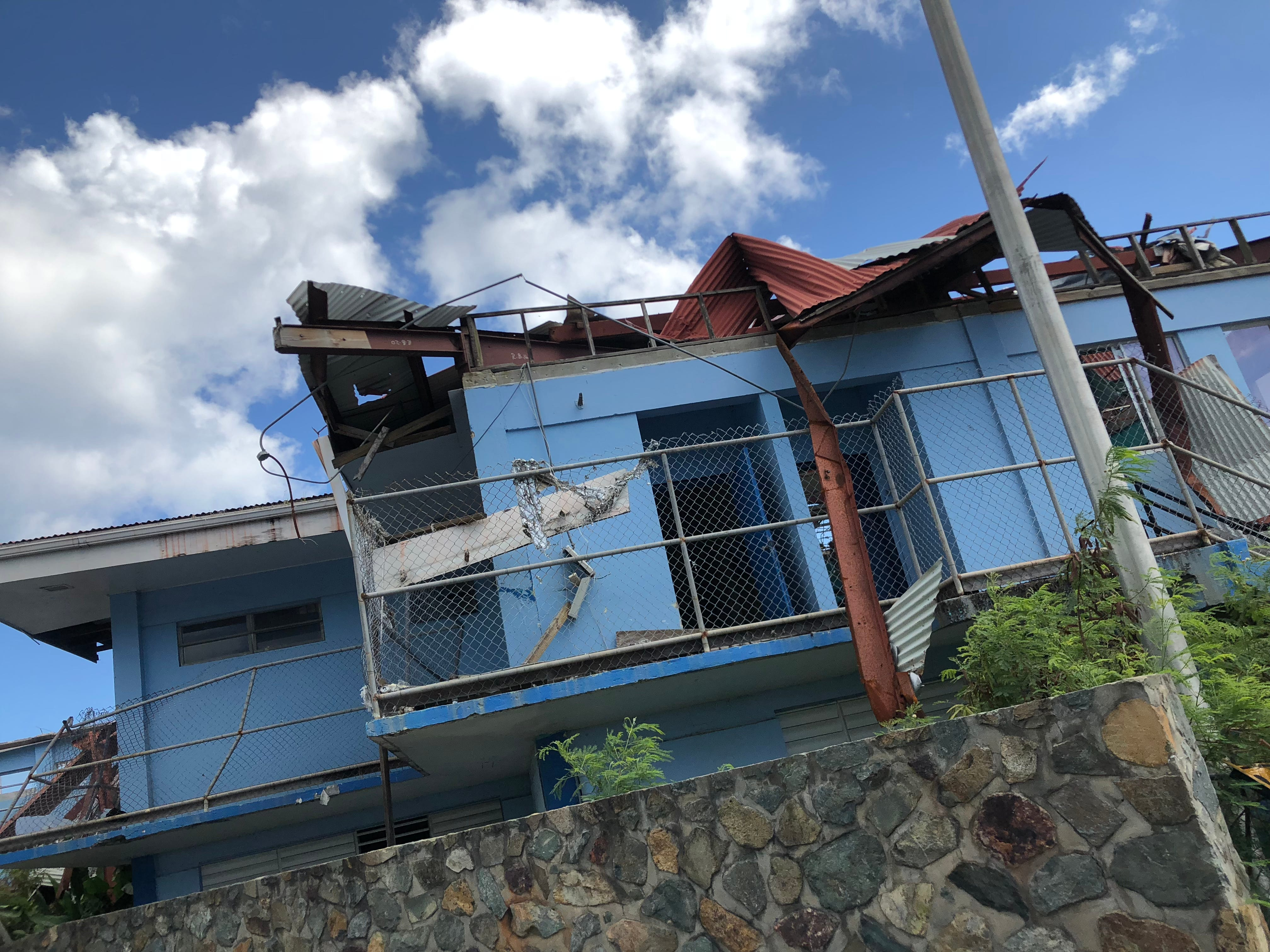 Hurricanes Irma and Maria damaged or destroyed 85% of the U.S. Virgin IslandsÕ 56,000 homes, including this one on St. John.