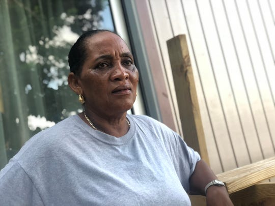 """Evelyne Stephen, 61, lost her home to Hurricane Irma and didn't get enough FEMA money to build a new one. The non-profit group Love for Love City helped her build a new home stronger and more storm-resistant than her previous one. """"If it wasn't for them, a lot of local people wouldn't be where they are today,"""" she says."""