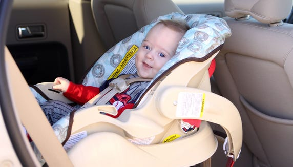 The American Academy of Pediatrics advises Children should ride in rear-facing car seats until they reach the height or weight limit for the seat.