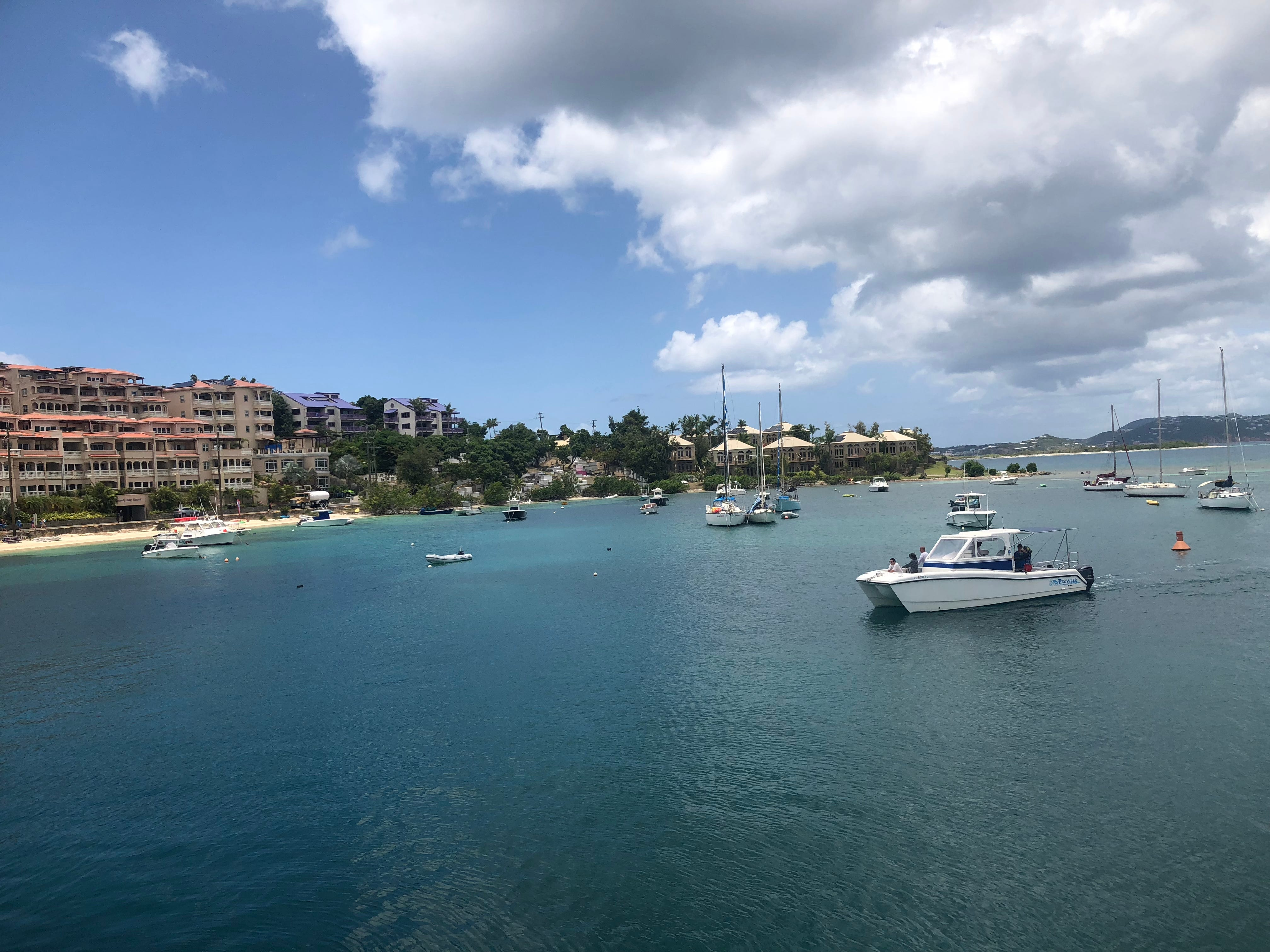 A year after Hurricane Irma battered the island, Cruz Bay in St. John is steadying recovering from the devastating effects of the storm.