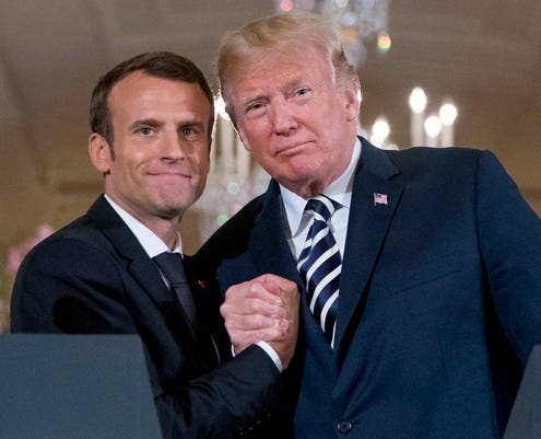 9af656c0263c85 French President Macron wins over Trump, but fails to influence him