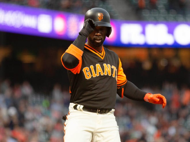 McCutchen had a .357 OBP with the Giants this season.