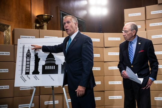 Sen. Thom Tillis, R-N.C., and Senate Judiciary Committee Chairman Chuck Grassley, R-Iowa, disputes Senate Democrats' claim that the panel has not released enough documents relating to Supreme Court nominee Brett Kavanaugh.